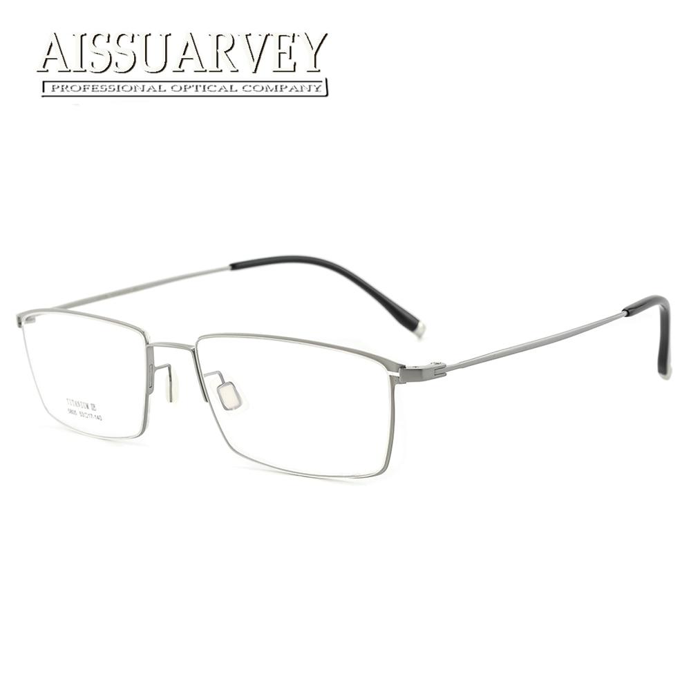 Titane lunettes cadres hommes optique-lunetterie lumière Flexible Prescription lunettes marque Designer lunettes Top qualité mince