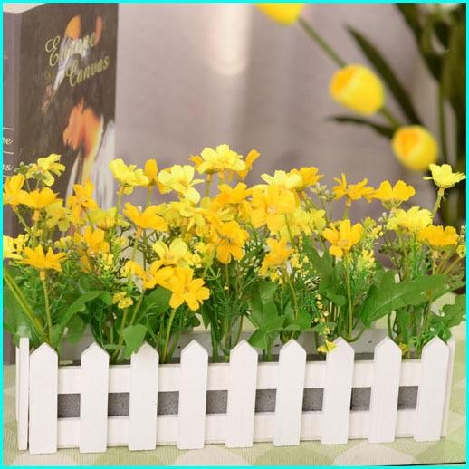 Fleurs artificielles pour d coration bonsa fleurs vase for Plantes decoratives jardin