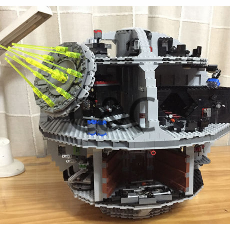 Legoing 05063 4016pcs Star Plan Series Wars Death Star Building Block Bricks Toys Kits Compatible legoed with 75159 in stock lepin 05035 3803pcs genuine star wars death star educational building block bricks toys kits compatible with j35000