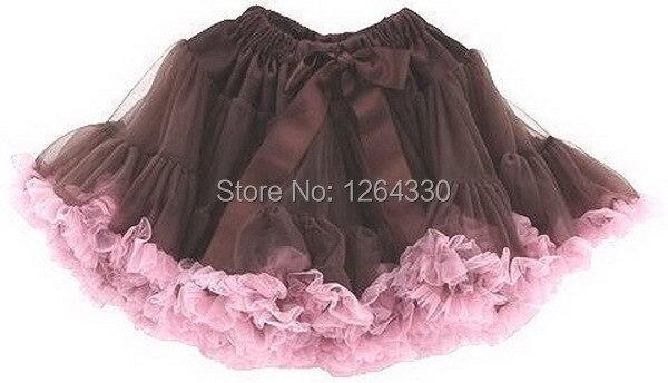 free shipping Baby Girl's Popular Chiffon Fluffy Ruffle Pettiskirt , Soft Children Birthday Tutu Skirt PETS-024