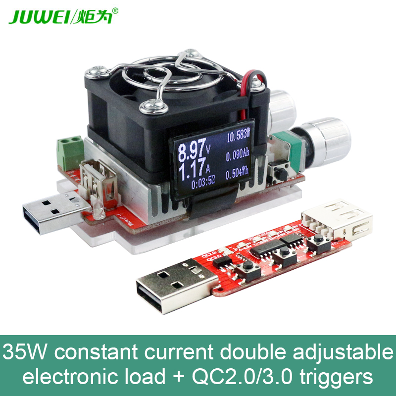 35W定電流ダブル調整可能電子負荷+ QC2.0 / - 計測器 - 写真 3