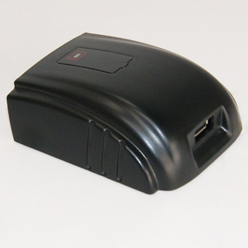 The Newest Design USB Charger Use Milwaukee C18B 18V Power Tools Batteries Power Bank to charge the Phone Ipad
