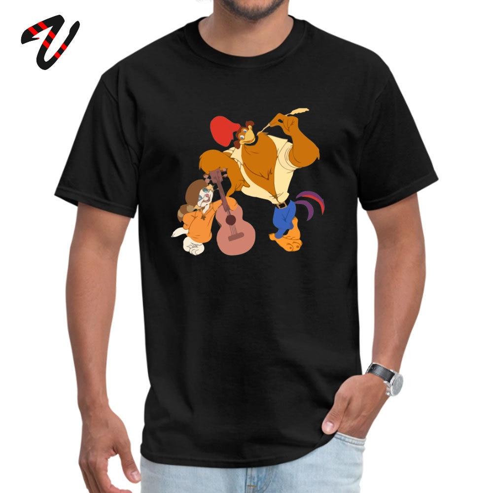 RockaDoodle 2018 comfortable T Shirt O-Neck Thanksgiving Day Cotton Short Sleeve Tshirts for Men Crazy T Shirts Rock-a-Doodle -19547 black