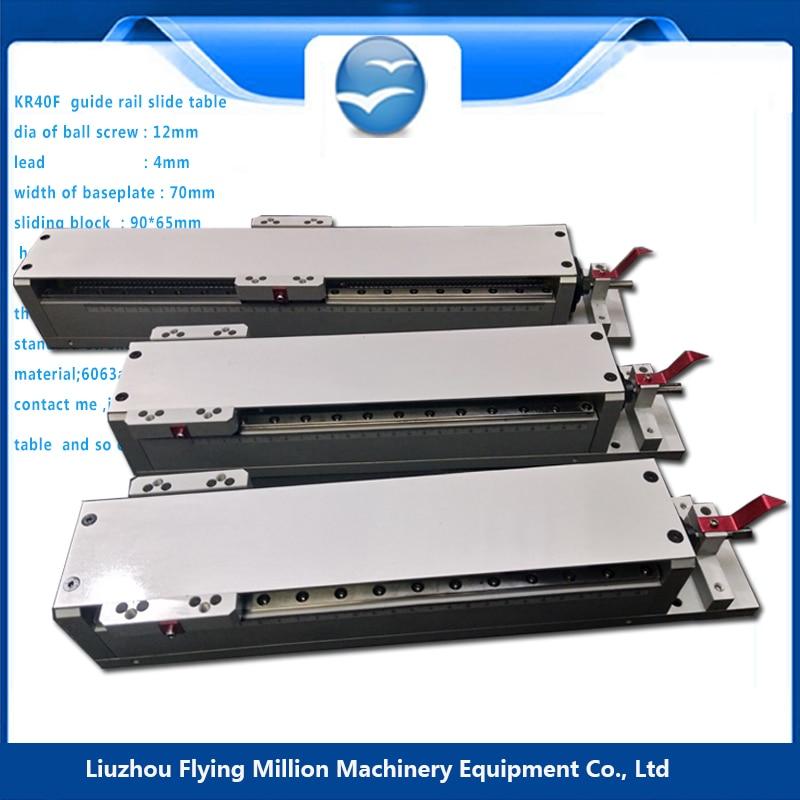 Guide latéral linéaire glissière module électrique/manuel etabli miniature 1204 vis à billes table coulissante électrique KR40F 62-712mm - 4