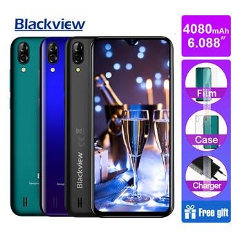 Купить Blackview A60 Pro 3 Гб 16 Гб четырехъядерный Android 9,0 4G мобильный телефон 6,088 дюймполный экран 4080 мАч Face ID двойная задняя камера смартфона