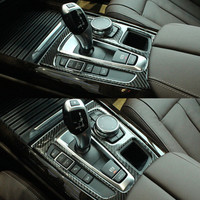 New For BMW X6 Modified Carbon Fiber Transmission Frame Control Decorative Frame F15 For BMW X5