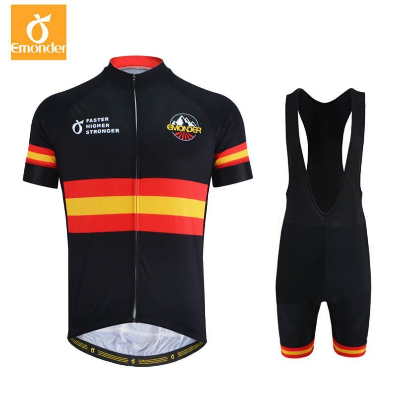 Team Cycling Long Kits Mountain Bike Bib Pants Coolmax /& Cycling Jersey Top Sets