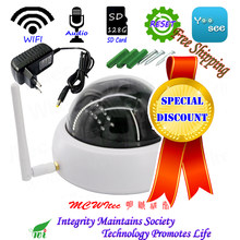 Audio Reset WIFI 960P IR Dome SD Card Vandal proof Plastic CCTV Cam Onvif IP Camera Motion Alarm P2P Mobile security(China)