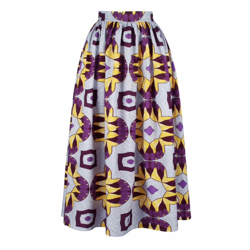 African Women Clothing Rushed Hot Sale Polyester 2018 National Wind Digital Printing Elegent Hot-selling Women Skirts