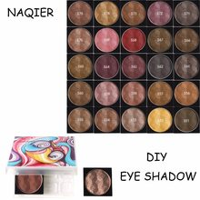 NAQIER DIY Eyeshadow Pallete Make Up Matte Earth Palette Shimmer Eye Shadow Makeup Glitter Waterproof Lasting BUY 4pcs GET 1 Box(China)