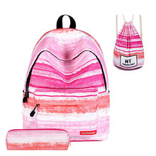 School Backpack Girls Canvas Casual Daily Bags for Teenagers Boy Women Large Capacity Travel Daypack Mochilas Infantiles menghuo fashion black women backpack canvas men school backpacks for teenagers girls casual large capacity korean bags mochilas
