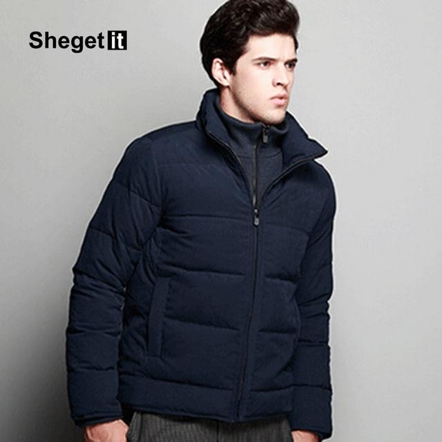 2016 Nuevo Invierno Gruesa chaqueta de Los Hombres Mantener Caliente la Nieve prendas de Vestir Exteriores de Los Hombres de Calidad Superior Con Capucha de Down Parkas Abajo Hombres de la Capa Más El Tamaño Negro