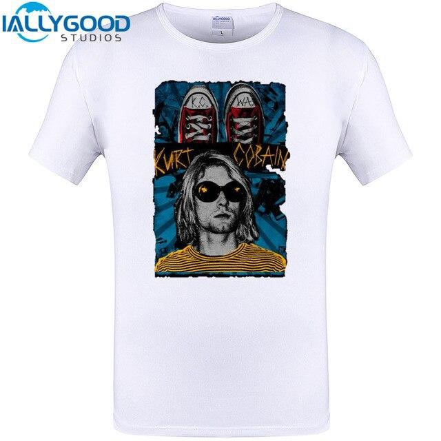 Kurt Cobain Cool Design T Shirt New Arrival Summer Short Sleeve Tops Cool  Funny Print Tee