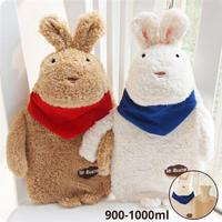 New Creative Cute Cartoon Rabbit Hot Water Bottle Bag Safe And Reliable High Quality Plush Rubber