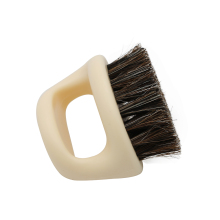 1 Pcs Ring Design Horse Bristle Men Shaving Brush Plastic Portable Barber Beard Brushes Salon Face Cleaning Razor Brush Y-87