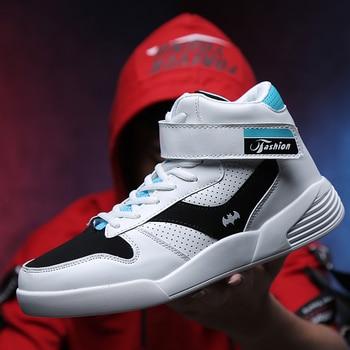 12cd0f4b Product Offer. Мужская обувь 2018 года, новая обувь на плоской подошве,  мужские Нескользящие высокие ботинки, амортизирующие мужские кроссовки ...