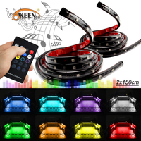 OKEEN 24V 8 Colors Wireless Remote Music Car Truck Pickup Bed Tailgate Underbody Side Marker LED