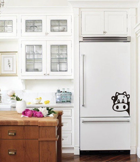 Cute Cow Vinyl Sticker Decal For Refrigerator Kitchen Wall Art Home  Decoration Decor Wallpaper Murals Poster
