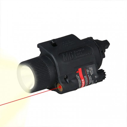 Quick Release 5mW Powerful Tactical M6 Red Dot Laser Sight Scope Set for Rifle Pistol Shot LED Flashlight Combo Sight