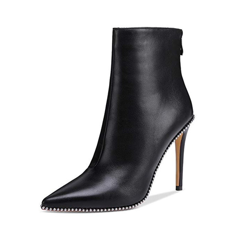 Venta Dedo Tamaño Cremallera Mujer Alto Zapatos Puntiagudo Doratasia Sexy 43 De Mujeres Negro Caliente Plus Del Fiesta Tacón Botas Pie p1xq4xw