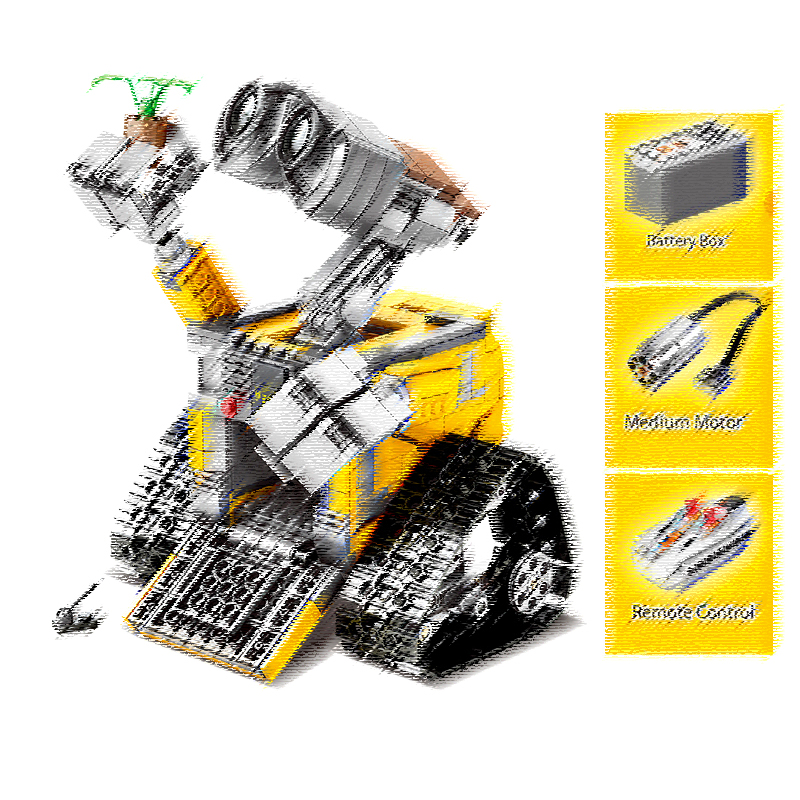 SY7007 853 pièces Star Wars idée Robot mur E RC télécommande électrique bloc de construction Compatible 21303 jouets pour enfants