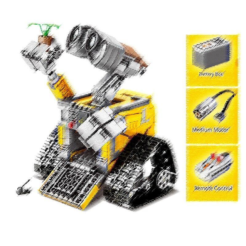 SY7007 853 pièces idée Robot mur E RC télécommande électrique bloc de construction Compatible 21303 jouets pour enfants
