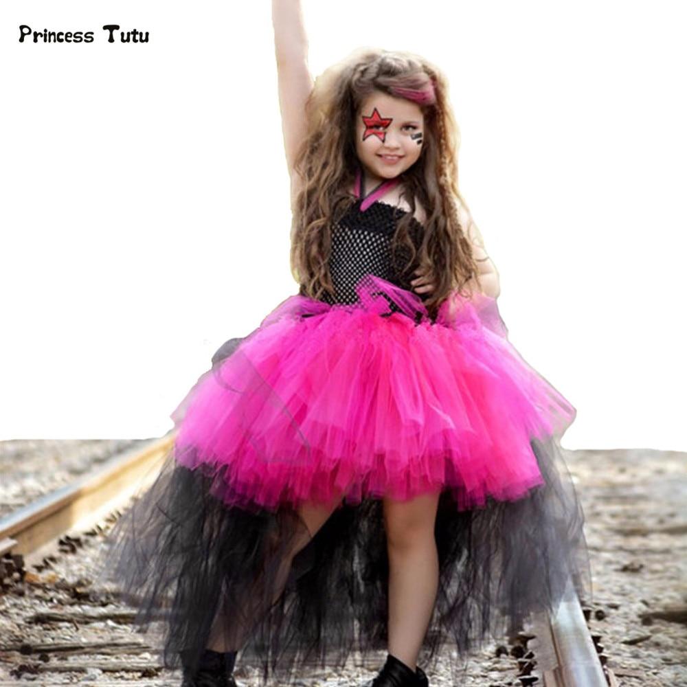 nuevo de la navidad del traje de halloween disfraz tutu cosplay rockstar queen dress girls party