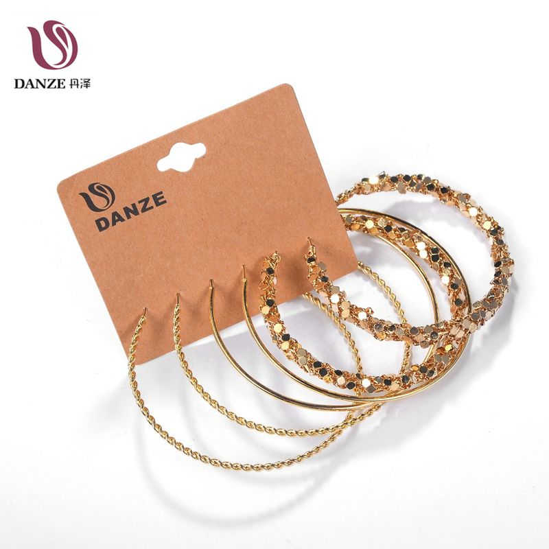 Danze Hot Sale Big Circle Stainless Steel Woman Hoop Earrings Set For Women Nickel Free Hoops Party Brincos Aros 3 Pairs/lot