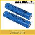 2 pcs 600 mAh 3.7 V TR 10440 AAA Bateria De Lítio Recarregável