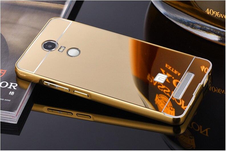 Luxury Ultra Slim Aluminum Metal Frame Acrylic Mirror Back Cover <font><b>Case</b></font> For <font><b>Xiaomi</b></font> <font><b>Redmi</b></font> Note <font><b>3</b></font> 5.5inch <font><b>Phone</b></font> <font><b>Case</b></font> JZ2