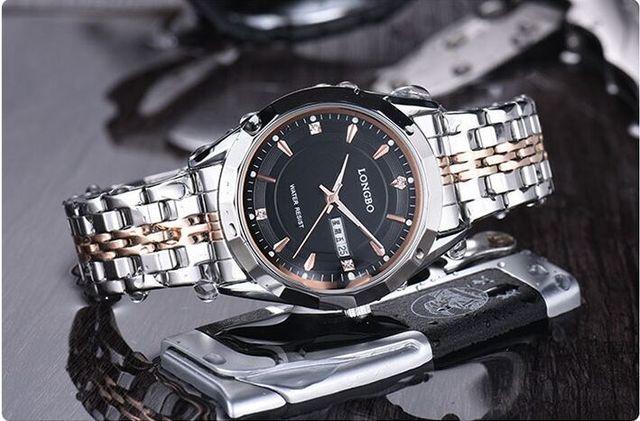 LONGBO 80164G Brand couple Man Woman fashion casual business quartz watch Full s