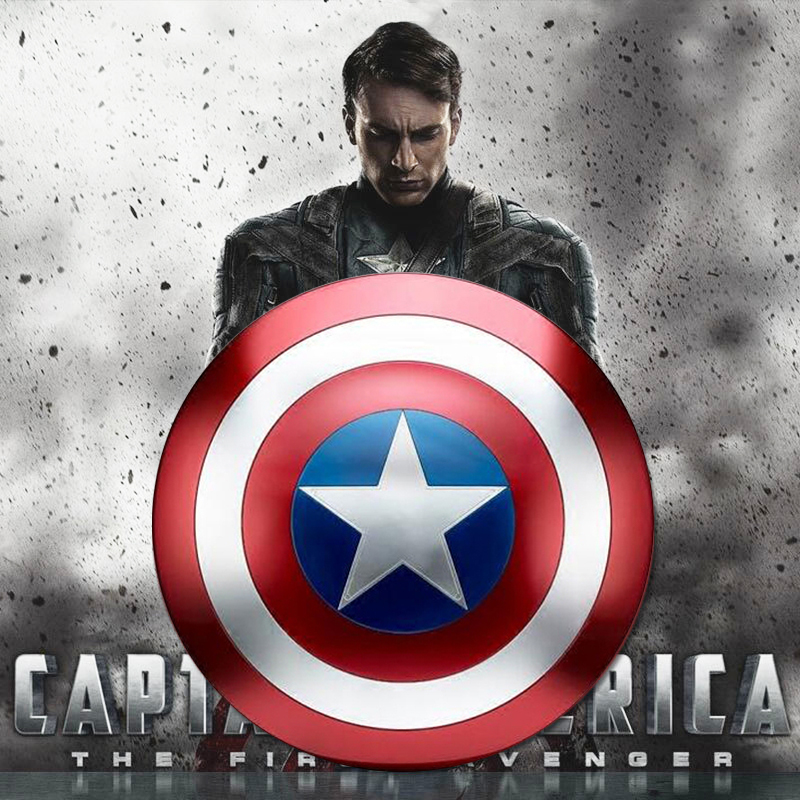 Avengers 4 Captain America Shield 1:1 Full Shield Cosplay Prop Toy Strong Home Art Decoration Halloween Party Metal iron 47CM-in Costume Props from Novelty & Special Use    1