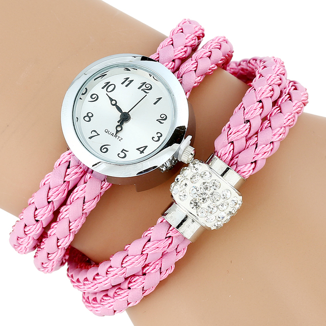 Gnova Platinum TOP Paracord Bracelet Watch Women Rhinestone Strap Ladies QUARTZ