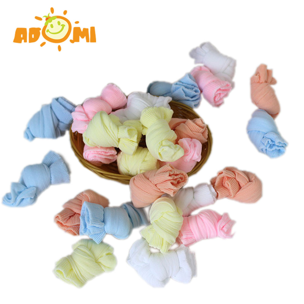 ADOMI (5 Pairs/Lot) 5 colors Cotton boy and girl Pinkycolor Spring and Summer breathable mesh kinds socks mix colors 0-4T