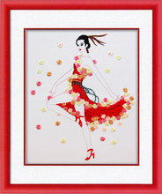 90X70cm DIY 3D Cross Stitch Kit Needlework Unfinished Ribbon Embroidery Painting Dancing Girl Stitching Craft Gift Decorative(China)