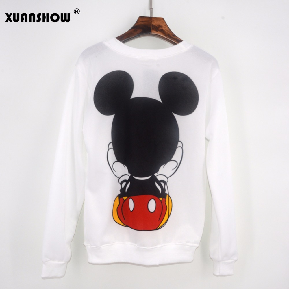 Xuanshow Women Sweatshirts Hoodies Character Printed Casual Pullover Cute Jumpers Top Long Sleeve O-neck Fleece Tops S-xxl #4