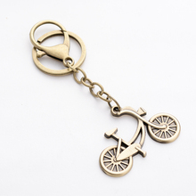 Punk Vintage Creative Bicycle Shape Keychain Bike Key Chain Ring Holder For Men Women Bag Charm Pendant Car Keyring Gift FY011