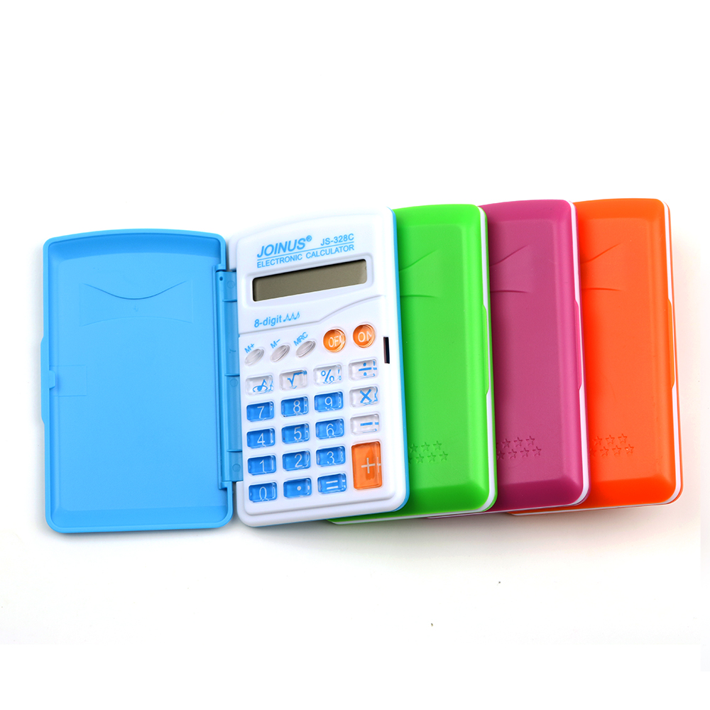 Карамельный цвет офисные мини-научный калькулятор школьников Функция Calculadora multi Функция al часы калькулятор cientifica