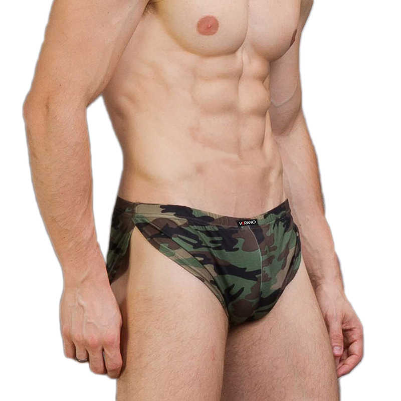 Sex Loose Camouflage Printed Ice Silk Sport Shorts Briefs Penis Military Pants Casual Camo Pants Workout Clothing Men