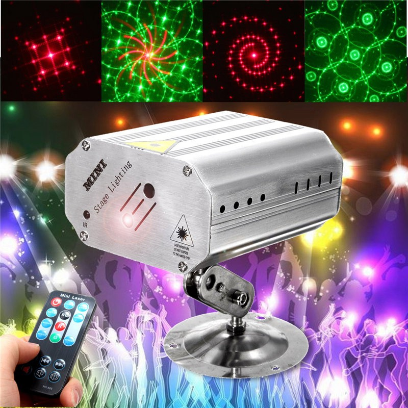 Mini LED RGB Stage Light Projector Laser Stage Lighting Effect Adjustment DJ Disco Party Club KTV Decor Lamp Bulb US EU Plug laideyi 36 rgb led stage light effect laser party disco dj bar effect up lighting dmx projection lamp ktv party light