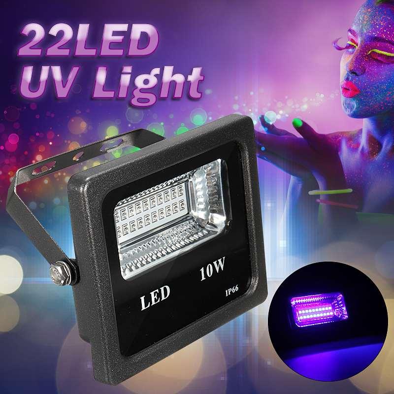 UV LED Blacklights High Power 10W 22LEDs UV LEDs Flood Light For DJ Disco Club Glow Bar Lighting AC90-265V