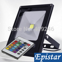 4pcs/Lot Epistar chip 10x10W 20W 30W 50W RGB Thin Led Flood lighting lamp IP66 with Remote Color changing