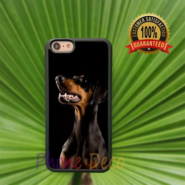 doberman fashion cell phone cases for iphone 4 4s 5 5s 5c 7 7 plus 6 6s 6plus 6splus B2855