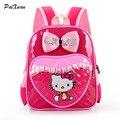 Hello kitty mochila mochila kindergarten para niños de la muchacha del hombro infantiles gato lindo bolsas escolares mochilas ortopédicos sac a dos