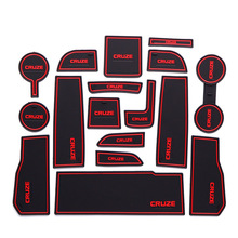 For Chevorlet Cruze 2017 Car Accessories Silica Gel Non-slip Mat 17pcs Auto Styling Decoration with Blue Red White Luminous Logo
