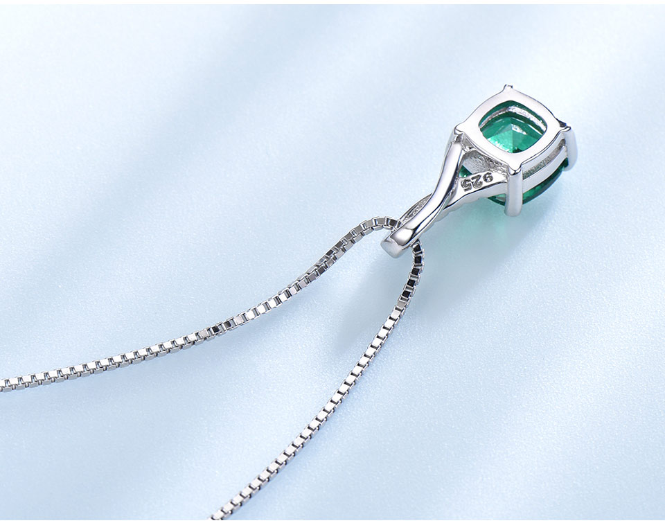 UMCHO Emerald 925 sterling silverNecklace for women NUJ051E-1pc (5)
