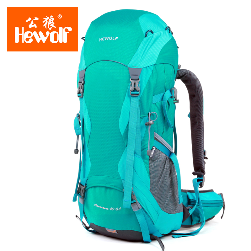 Hewolf Brand Outdoor mountaineering bag backpack men and women travel outdoor backpack hiking camping mountaineering bag 65l professional outdoor mountaineering bag camouflage bag large capacity multi function camping hiking backpack outdoor travel