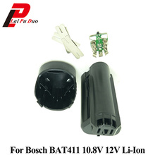 עבור בוש 10.8 V 12 V BAT411 מקרה פלסטיק סוללה (אין סוללה תא) המעגלים PCB BAT411 Li Ion סוללה תיבת פגז