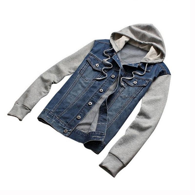Denim Jacket άνδρες με κουκούλα αθλητικά - Ανδρικός ρουχισμός - Φωτογραφία 3