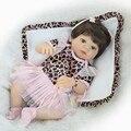 55 cm de corpo inteiro de silicone reborn baby doll brinquedo princesa recém-nascidos Bebês da menina Brincar de Casinha de Brinquedo Linda Boneca de Presente de Aniversário Da Menina Brinque